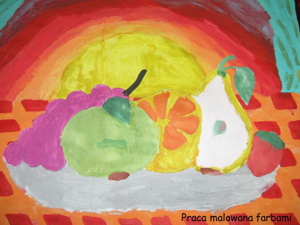 Praca malowana farbami