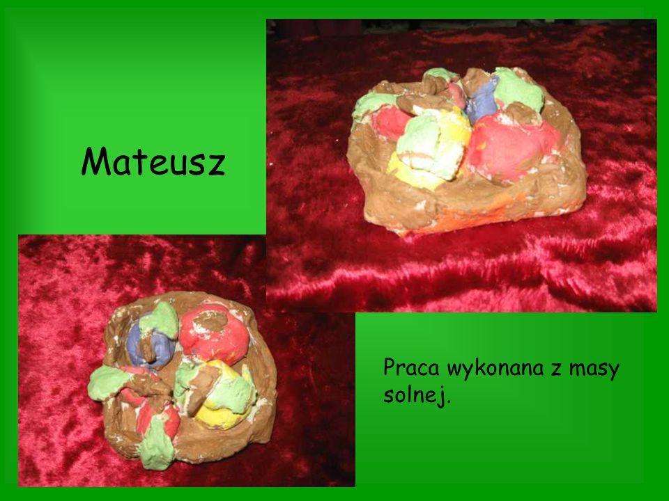 Mateusz Praca wykonana z masy solnej.