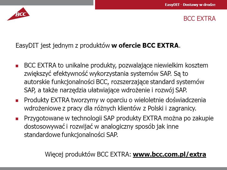 BCC EXTRA EasyDIT jest jednym z produktów w ofercie BCC EXTRA.