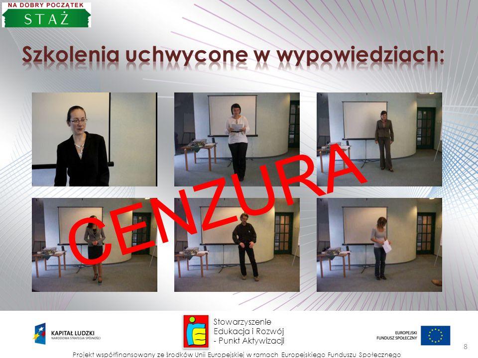 CENZURA Szkolenia uchwycone w wypowiedziach: Stowarzyszenie