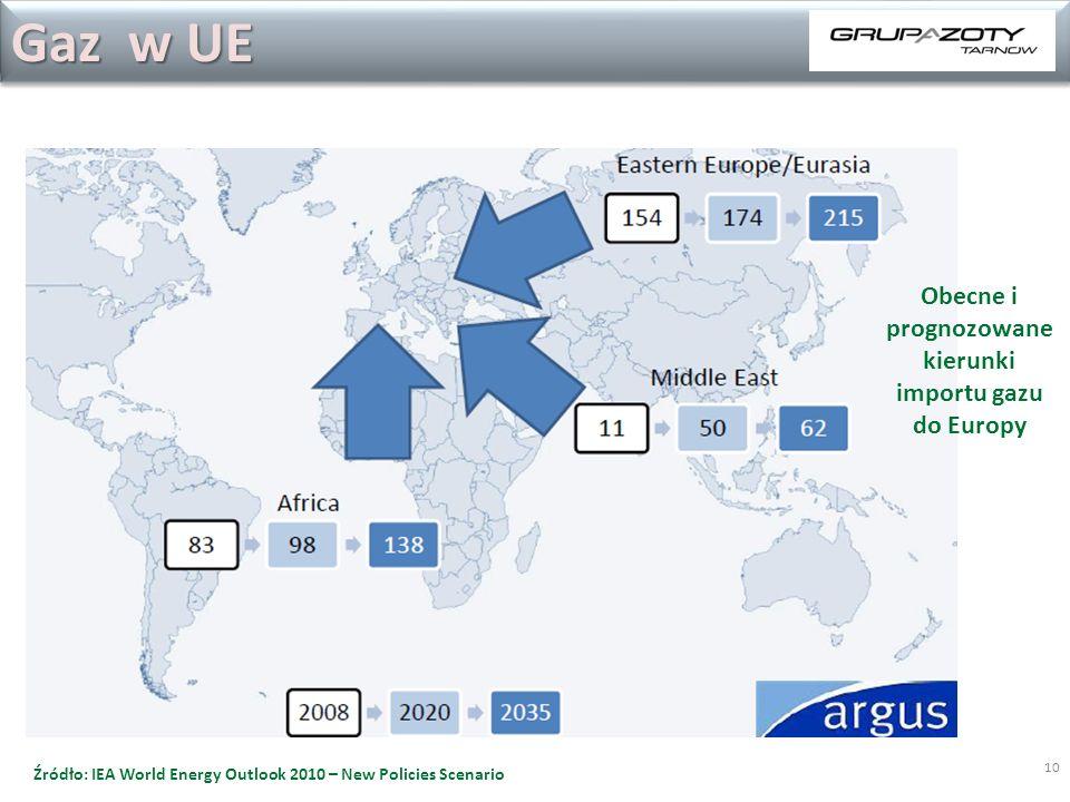 Obecne i prognozowane kierunki importu gazu do Europy