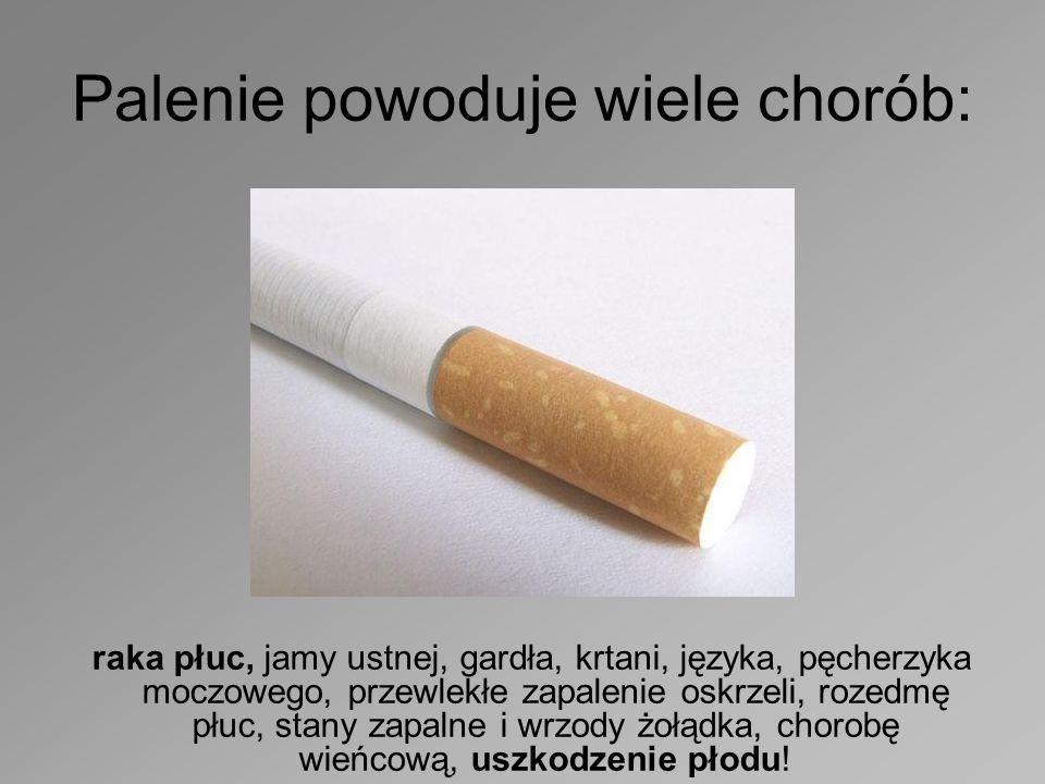 Palenie powoduje wiele chorób:
