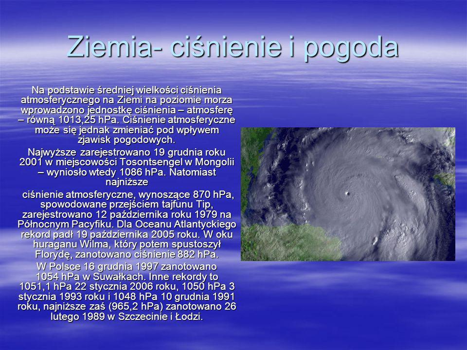 Ziemia- ciśnienie i pogoda