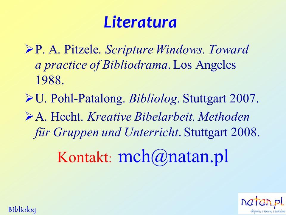 Literatura Kontakt: mch@natan.pl