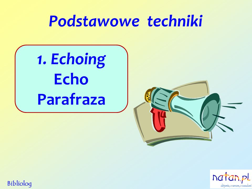 1. Echoing Echo Parafraza