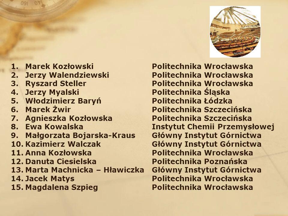 Marek Kozłowski Jerzy Walendziewski. Ryszard Steller. Jerzy Myalski. Włodzimierz Baryń. Marek Żwir.