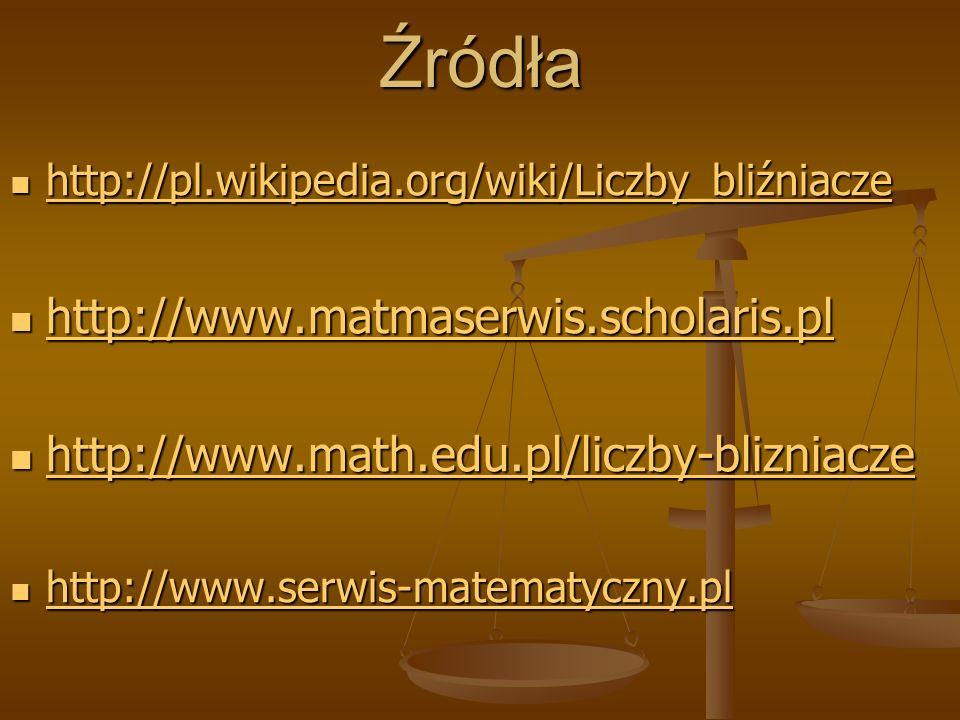 Źródła http://www.matmaserwis.scholaris.pl