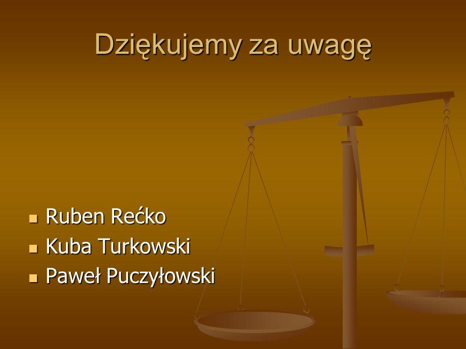 Dziękujemy za uwagę Ruben Rećko Kuba Turkowski Paweł Puczyłowski