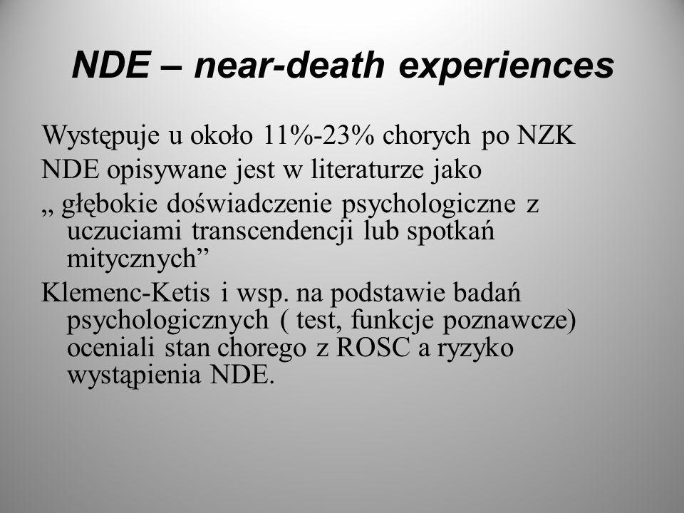 NDE – near-death experiences