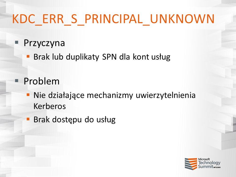 KDC_ERR_S_PRINCIPAL_UNKNOWN
