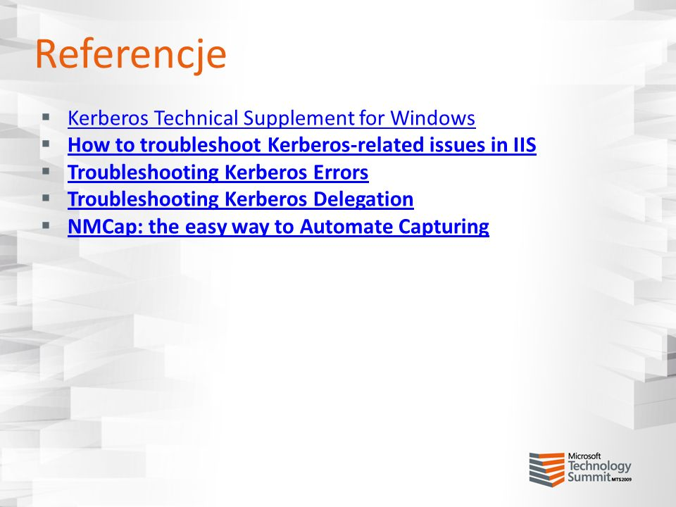 Referencje Kerberos Technical Supplement for Windows
