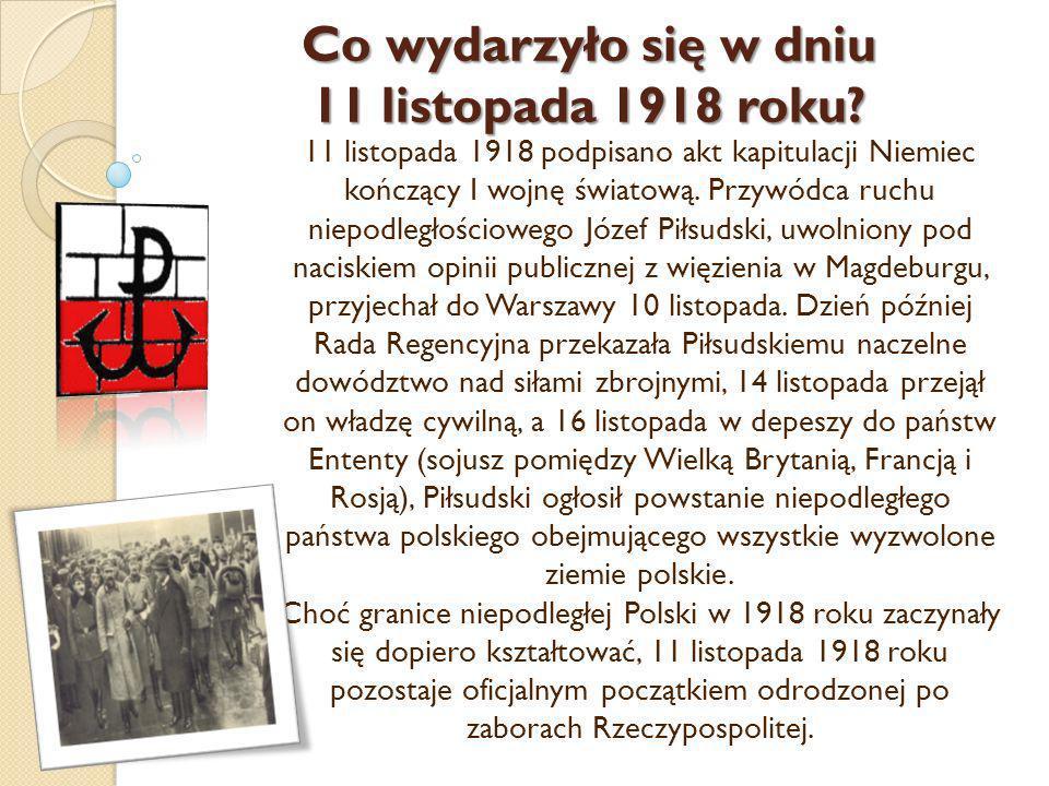Co wydarzyło się w dniu 11 listopada 1918 roku