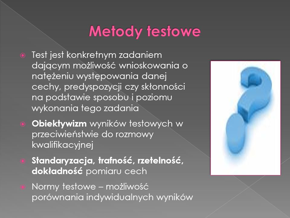 Metody testowe