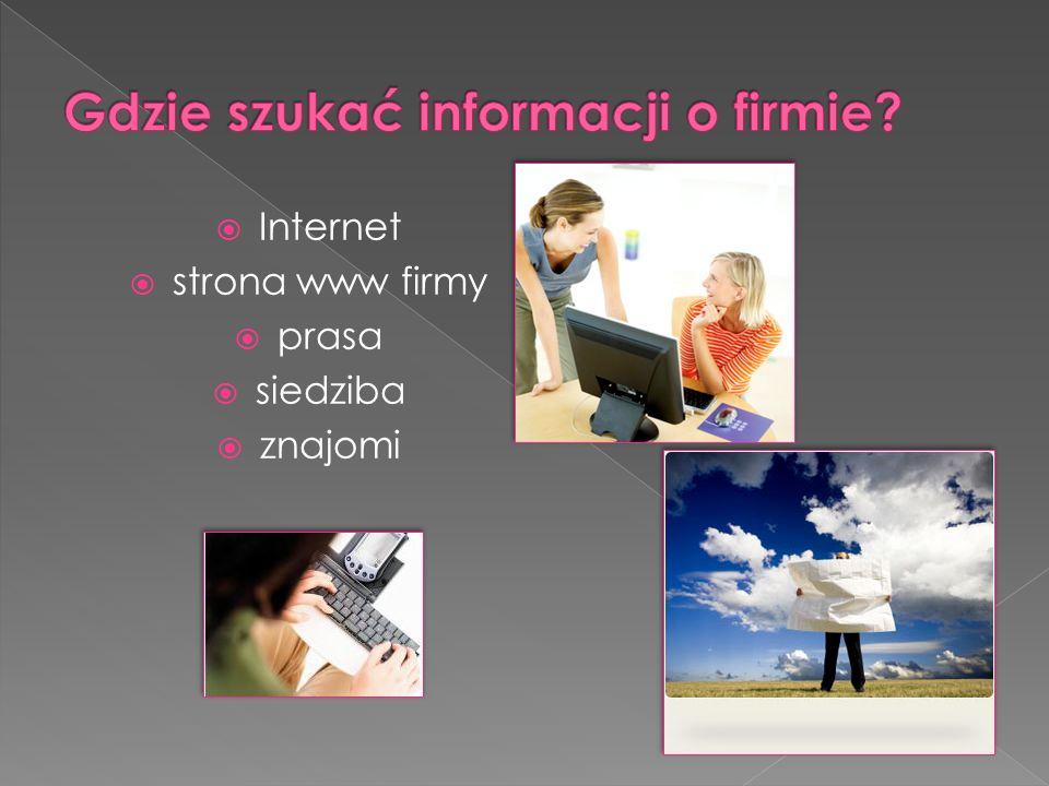 Gdzie szukać informacji o firmie