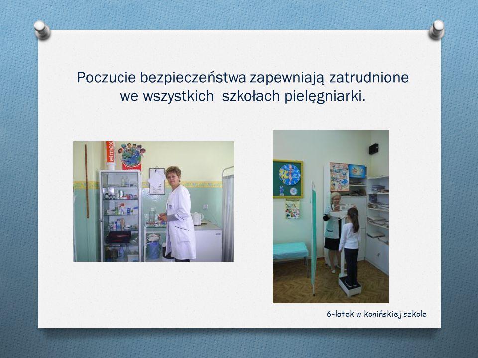 Poczucie bezpieczeństwa zapewniają zatrudnione we wszystkich szkołach pielęgniarki.