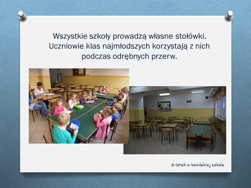 Wszystkie szkoły prowadzą własne stołówki