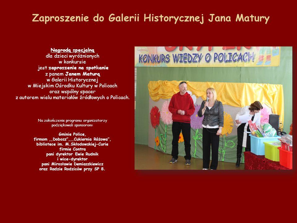 Zaproszenie do Galerii Historycznej Jana Matury