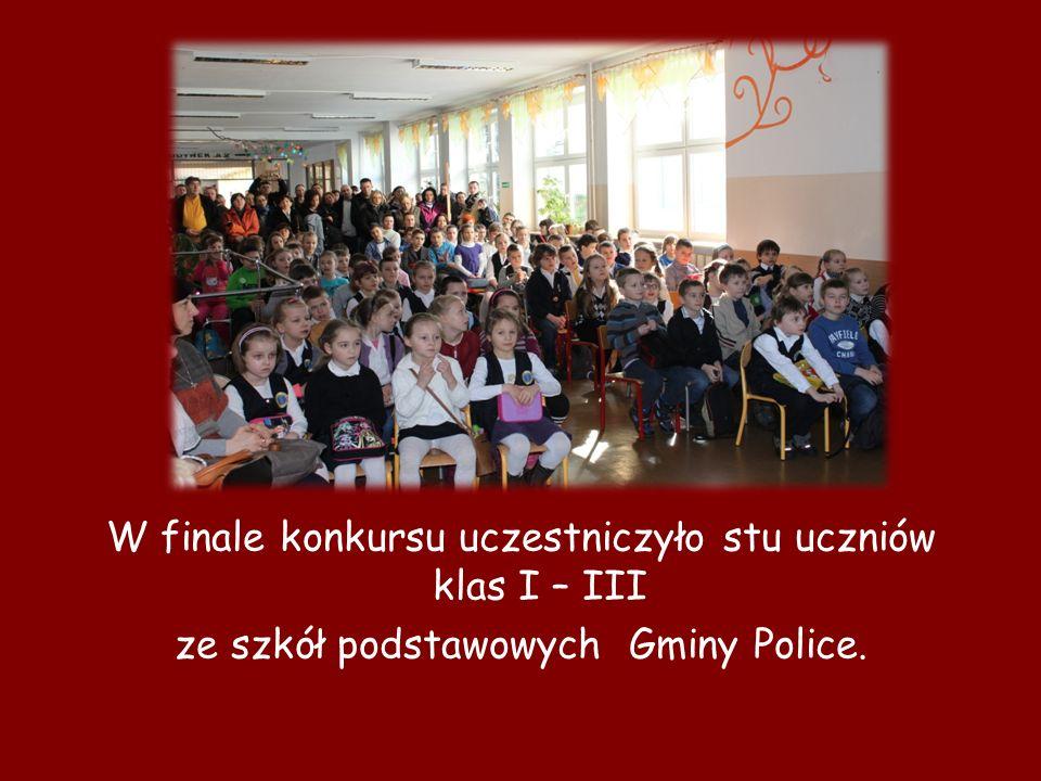 W finale konkursu uczestniczyło stu uczniów klas I – III
