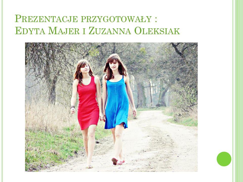 Prezentacje przygotowały : Edyta Majer i Zuzanna Oleksiak