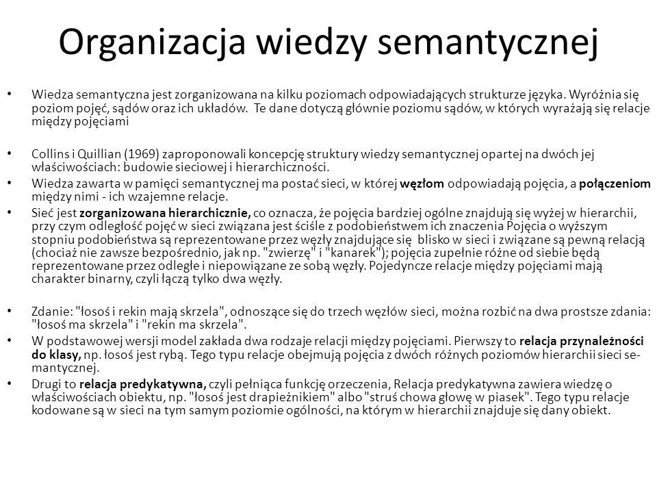 Organizacja wiedzy semantycznej