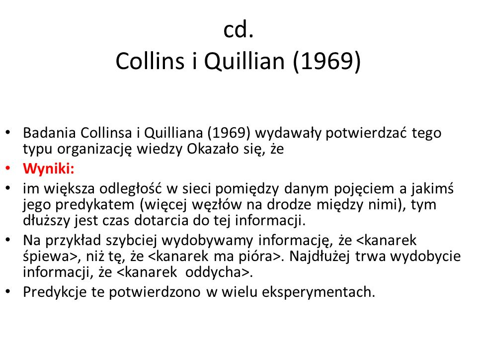 cd. Collins i Quillian (1969)