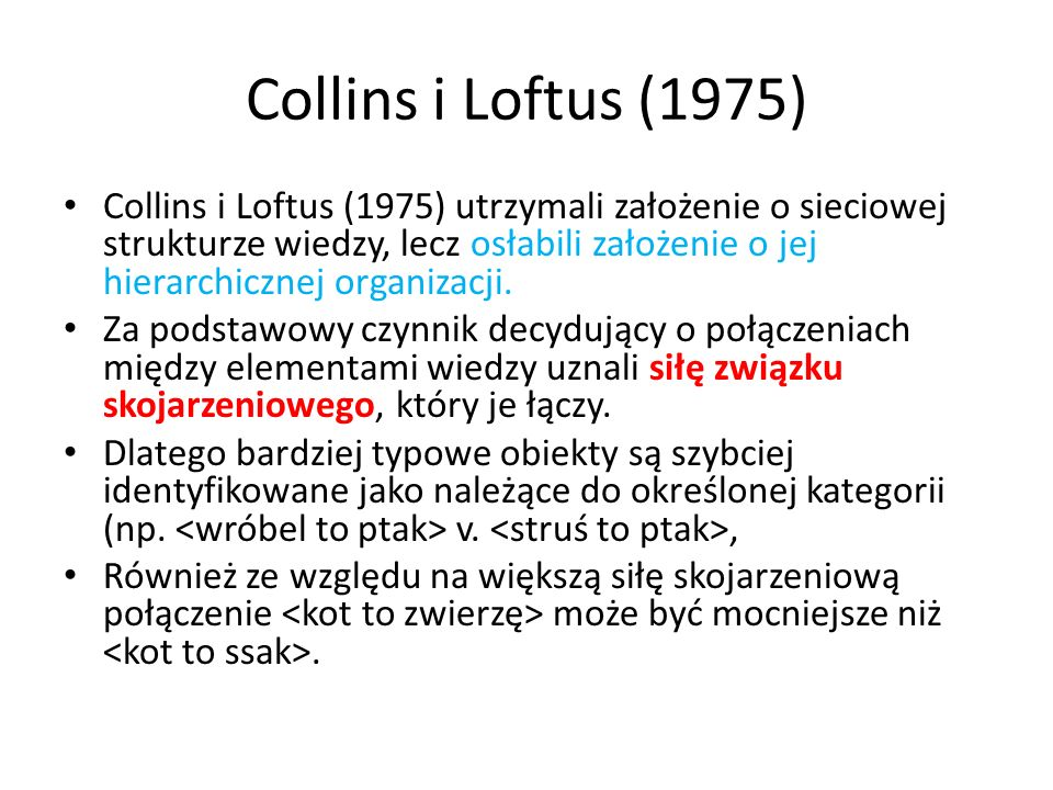 Collins i Loftus (1975)