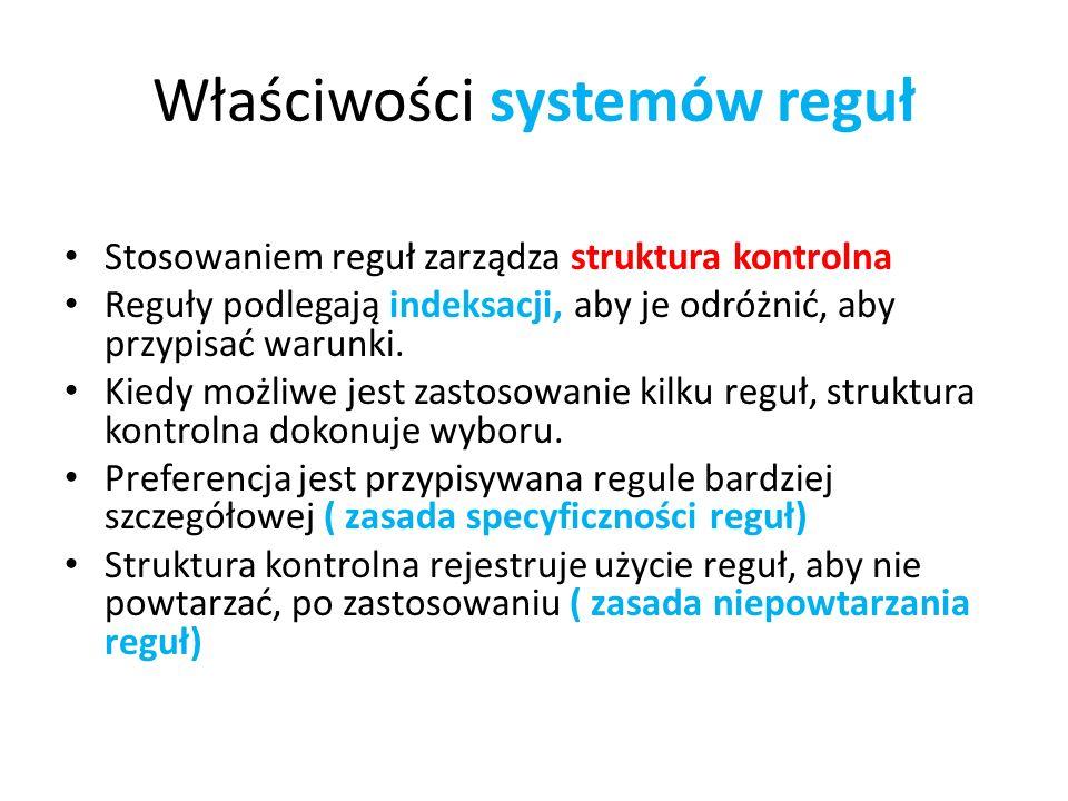 Właściwości systemów reguł