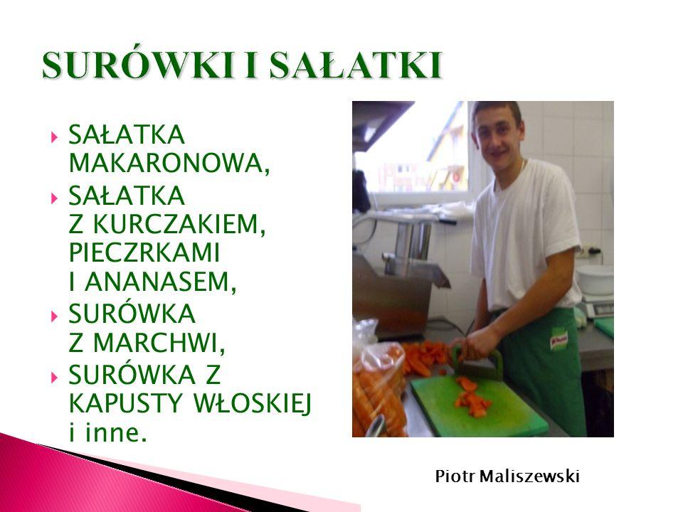 Mateusz Wiczkowski- kl. II kucharz