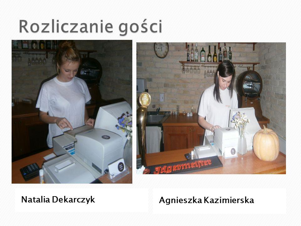 Rozliczanie gości Natalia Dekarczyk Agnieszka Kazimierska