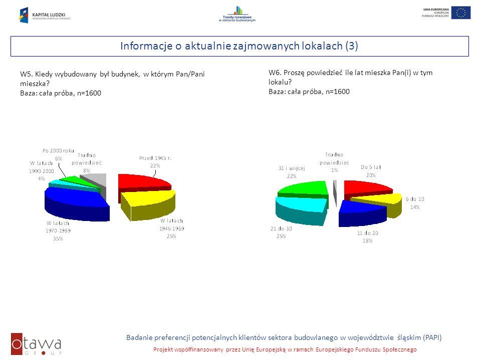 Informacje o aktualnie zajmowanych lokalach (3)