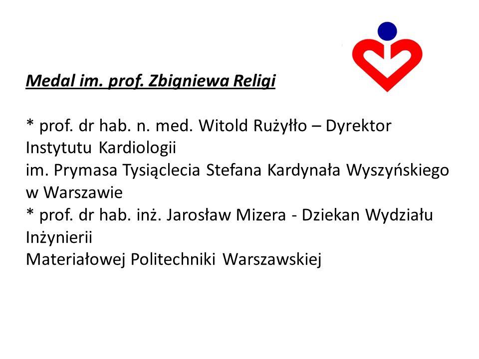Medal im. prof. Zbigniewa Religi