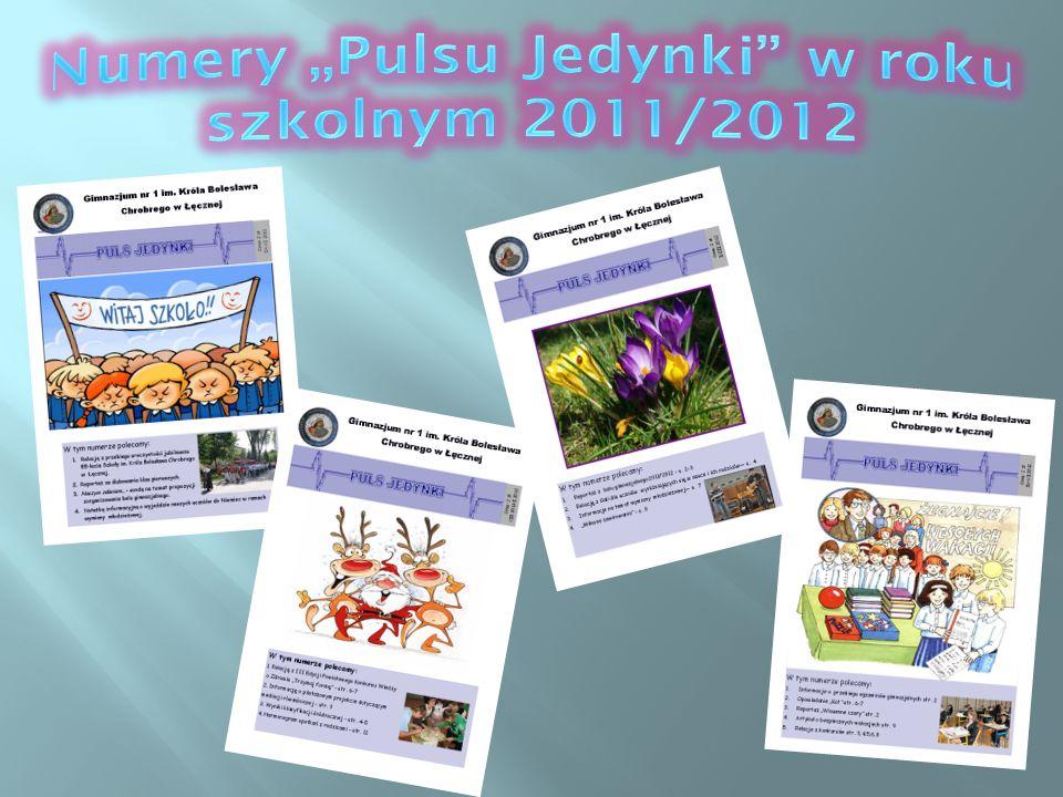 """Numery """"Pulsu Jedynki w roku szkolnym 2011/2012"""