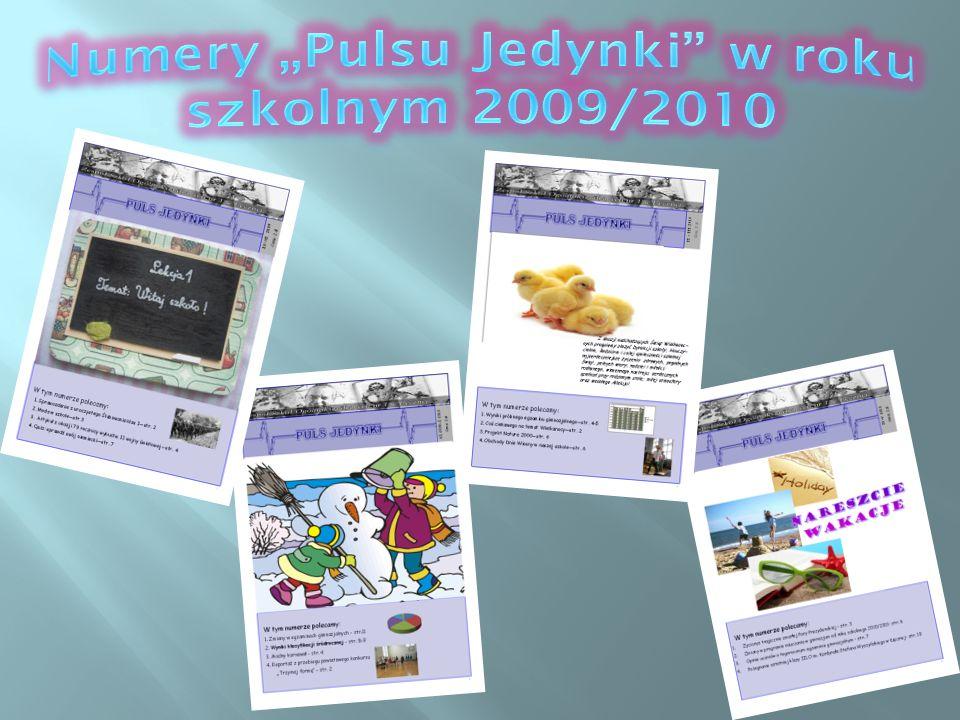 """Numery """"Pulsu Jedynki w roku szkolnym 2009/2010"""