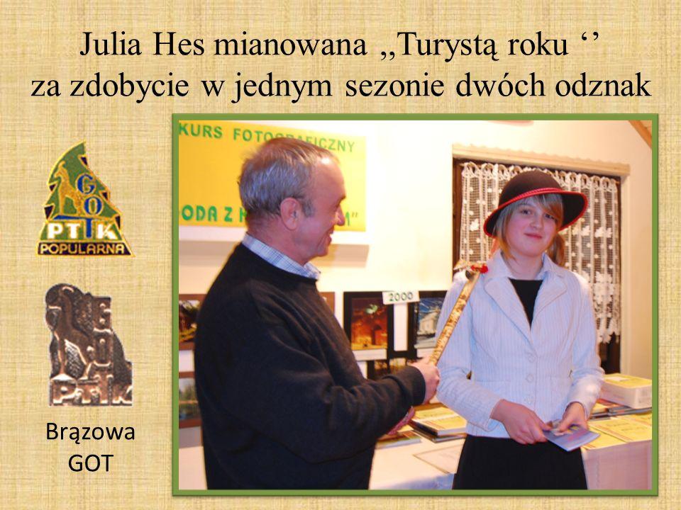 Julia Hes mianowana ,,Turystą roku '' za zdobycie w jednym sezonie dwóch odznak