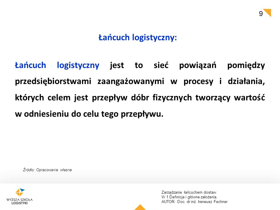 Łańcuch logistyczny: