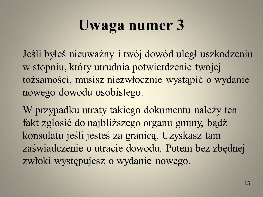 Uwaga numer 3