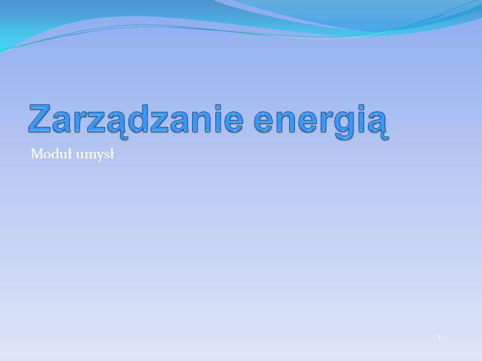 Zarządzanie energią Moduł umysł