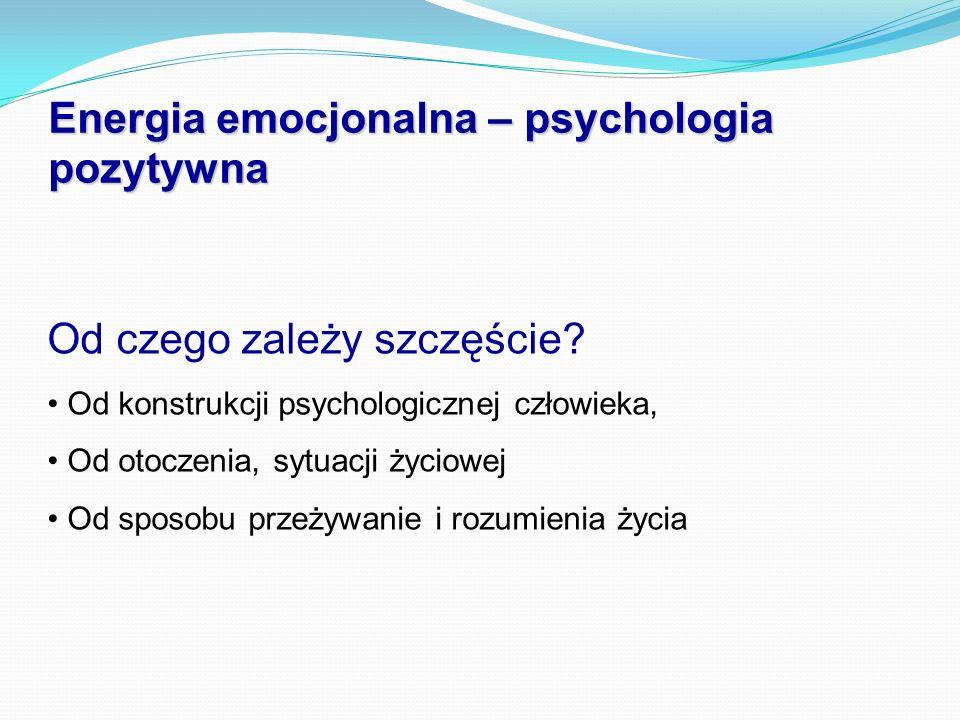 Energia emocjonalna – psychologia pozytywna