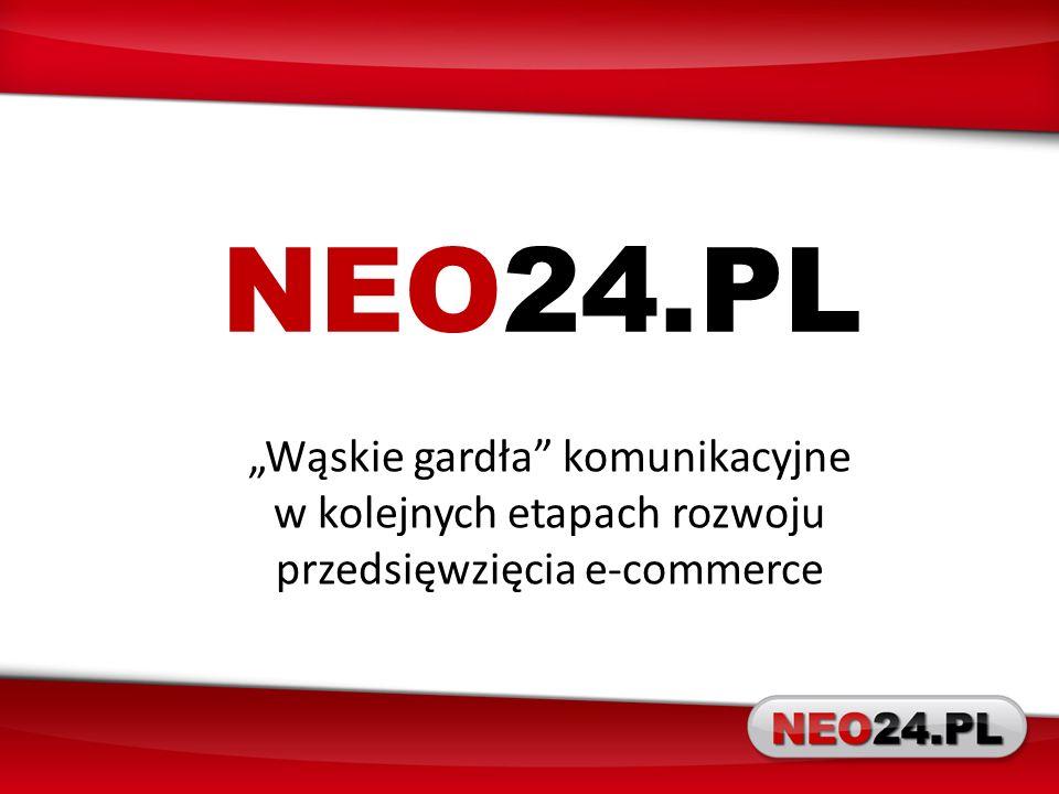 """NEO24.PL """"Wąskie gardła komunikacyjne w kolejnych etapach rozwoju przedsięwzięcia e-commerce"""
