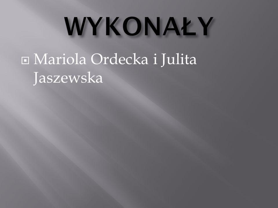 WYKONAŁY Mariola Ordecka i Julita Jaszewska