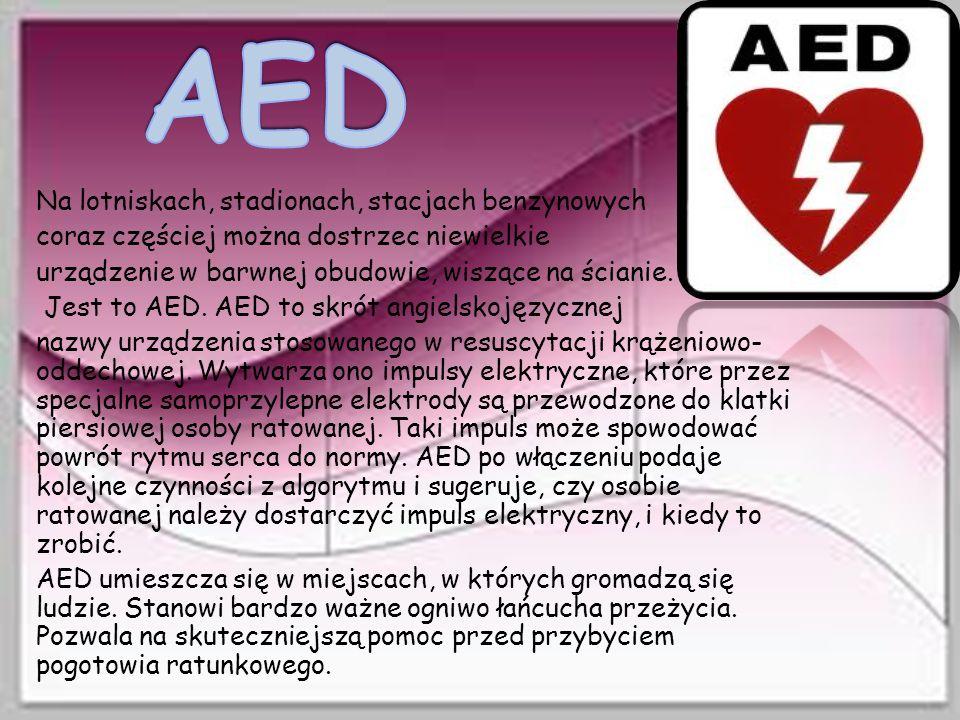 AED Na lotniskach, stadionach, stacjach benzynowych