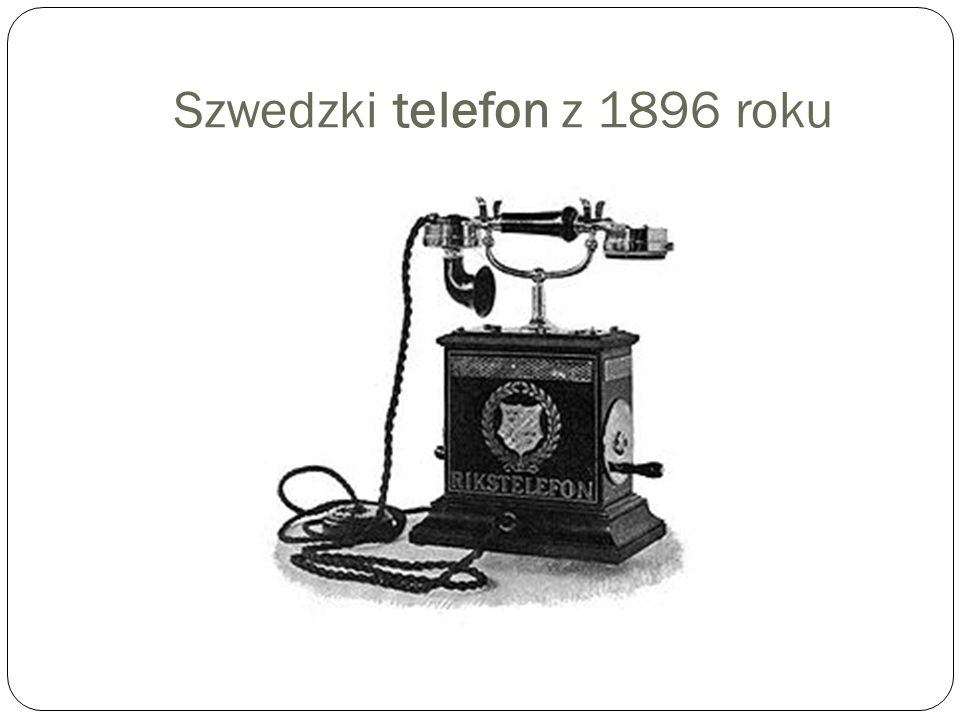 Szwedzki telefon z 1896 roku