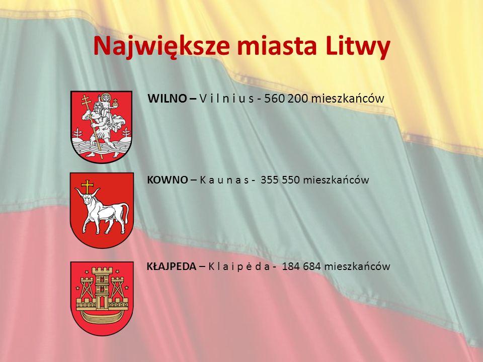 Największe miasta Litwy