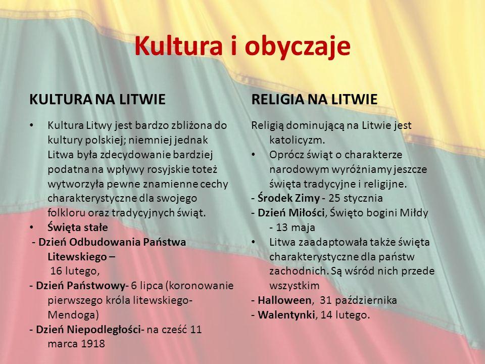 Kultura i obyczaje Kultura na Litwie Religia na Litwie