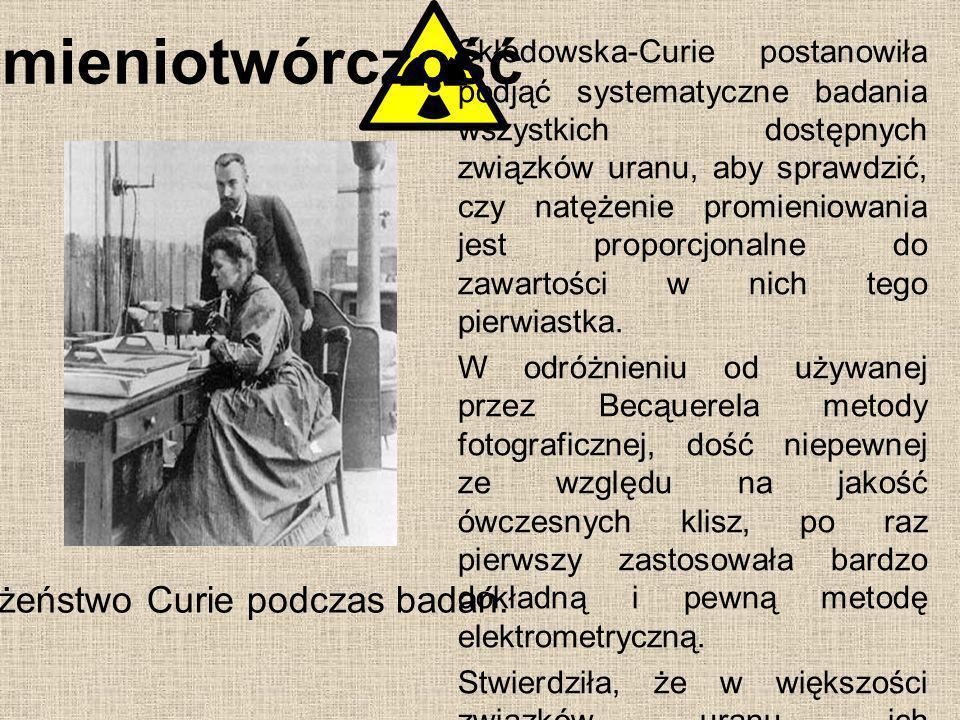 Małżeństwo Curie podczas badań.