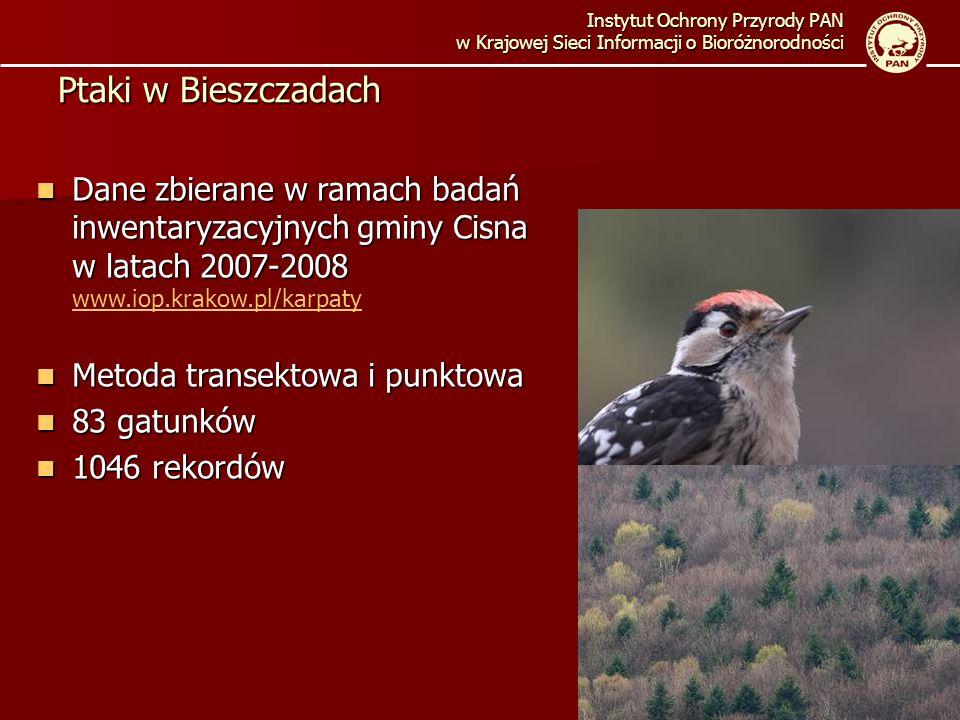 Instytut Ochrony Przyrody PAN w Krajowej Sieci Informacji o Bioróżnorodności