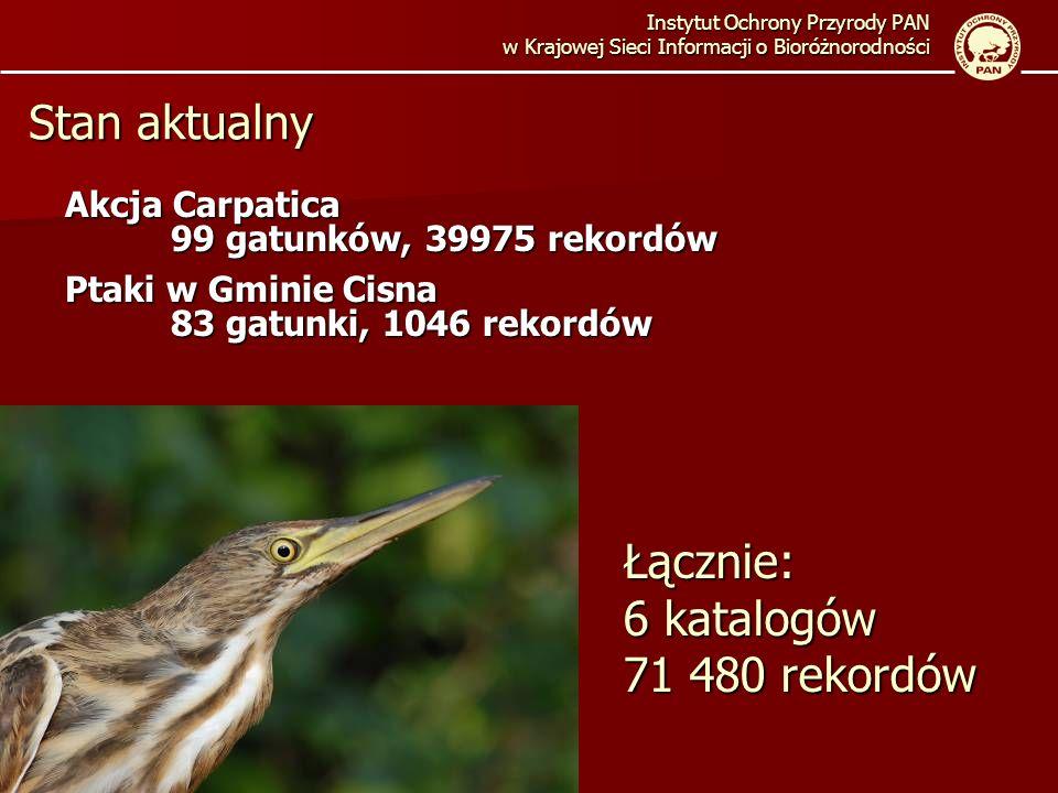 Łącznie: 6 katalogów 71 480 rekordów