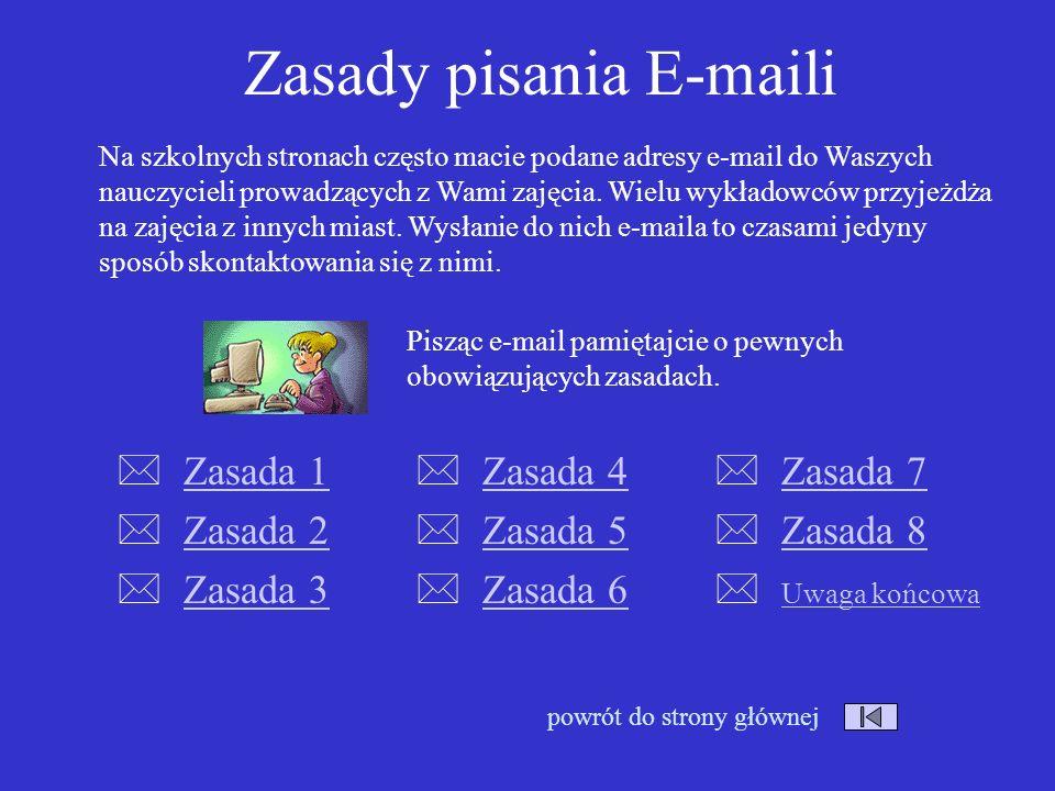 Zasady pisania E-maili
