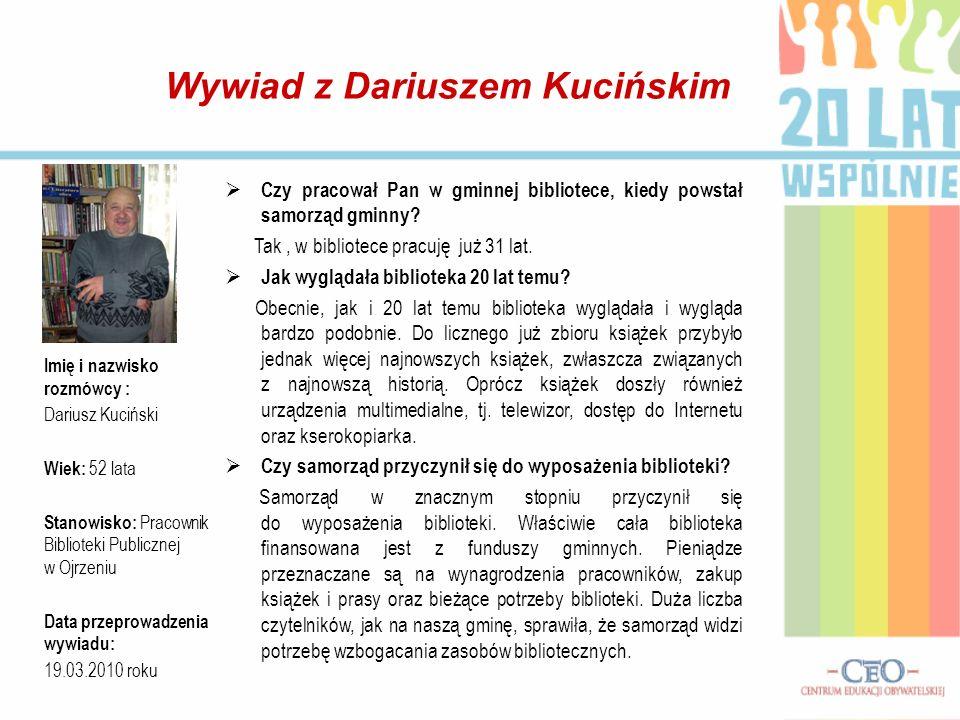 Wywiad z Dariuszem Kucińskim