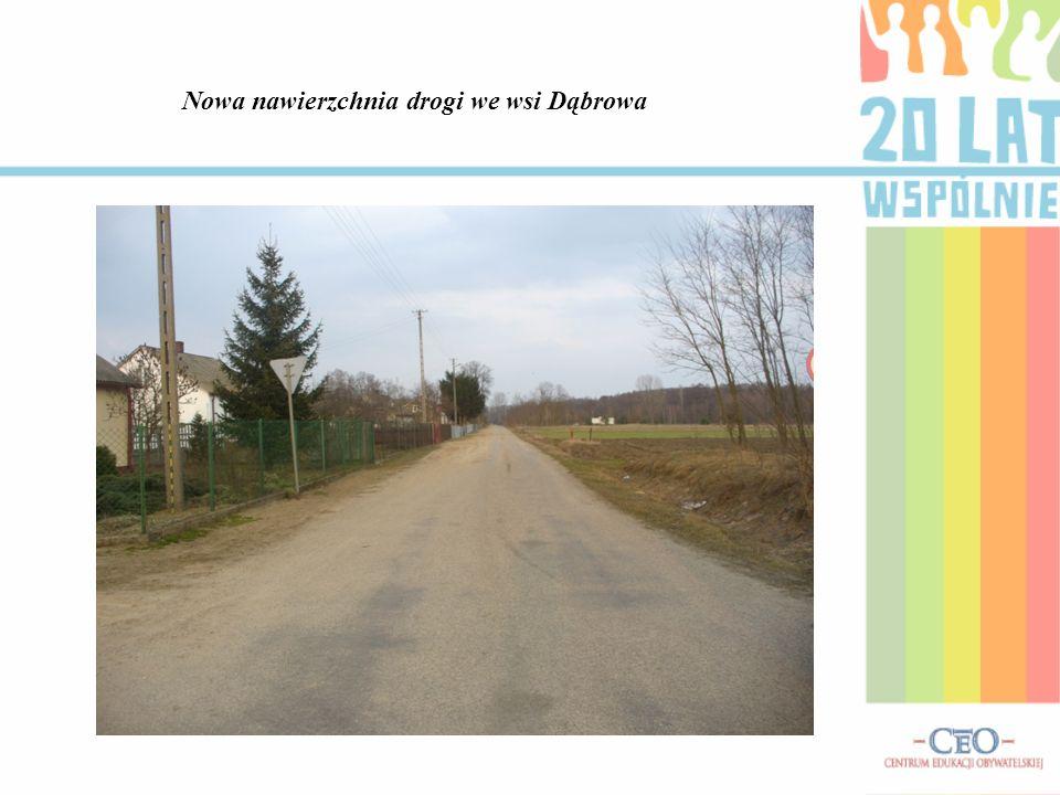 Nowa nawierzchnia drogi we wsi Dąbrowa